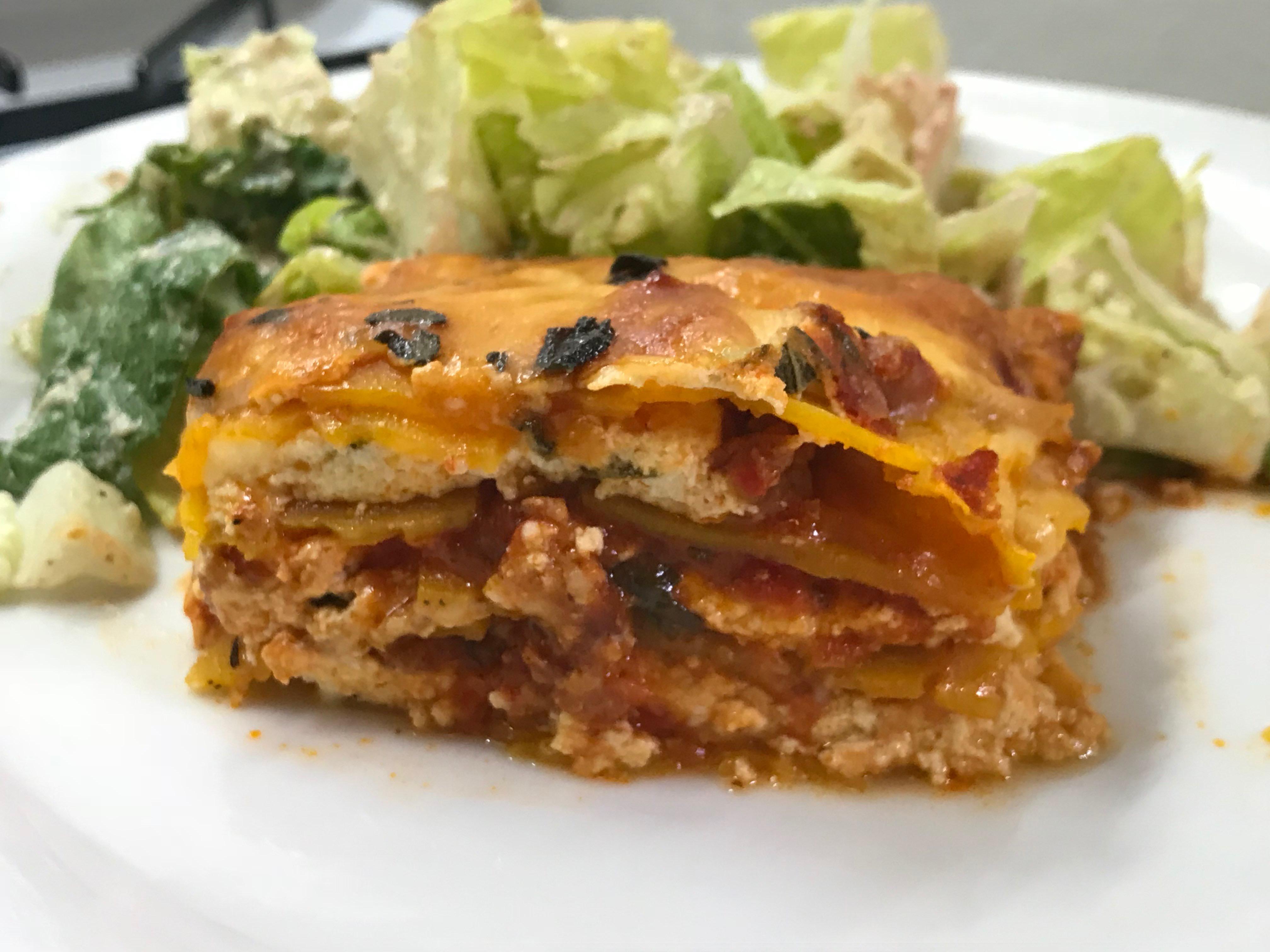 Butternut Squash Lasagna {Keto, Low Carb, Gluten Free}